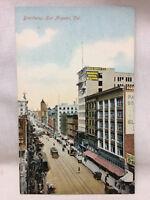Vintage Broadway Los Angeles California Postcard Street Scene