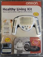 Omron HBF-306 Fat Loss BMI Monitor Kit with Heart rate monitor and Pedometer New
