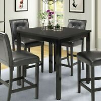 Small Dining Counter Ht Table Kitchen Breakfast Nook Wood Square Desk Furniture