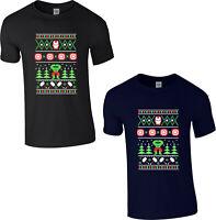 Avengers Christmas T-Shirt,Iron Man Hulk Thor Marvel Superhero Xmas Festive Gift