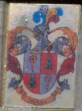 Héraldique BROCHES métallique du nom de famille : DIAZ