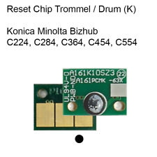 Reset Chip K schwarz Drum Konica Minolta Bizhub C224 C284 C364 C454 C554  DR512