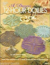 A Dozen 12-Hour Doilies Judy Teague-Treece Crochet Pattern Book NEW