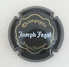 capsule champagne FAGOT joseph n°12 noir or et blanc