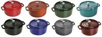 Staub Cast Iron 4-qt Round Cocotte Cooking Pot - 8 COLOR CHOICE NEW