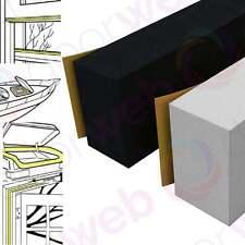 WEATHERSTRIP RUBBER FOAM Garage Door Stormguard Thick Seal White Black 3050MM