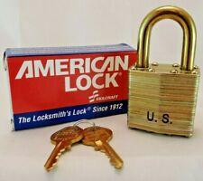 1 American Lock Padlock With2 Keys Ea Aa59487 2s Heavy Duty Military Surplus