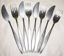Vintage ARTHUR PRICE OF ENGLAND Cutlery Fish Knife Fork Set Modernist