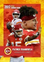PATRICK MAHOMES ll 2017 VERY FIRST EVER GOLD ROOKIE GEMS ROOKIE CARD KC CHIEFS!