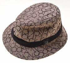 CALVIN KLEIN Womens Fedora Hat One Size Brown Wool Polyester  C101