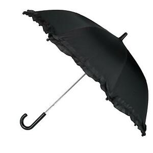 New CTM Kid's Solid Color Stick Umbrella with Ruffle
