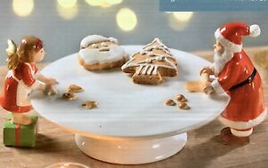 Aussergewöhnlicher Teller mit Nikolaus und Engel beim backen NEU für Weihnachten