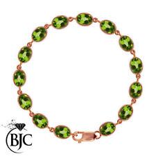 Pulseras de joyería con gemas verde natural