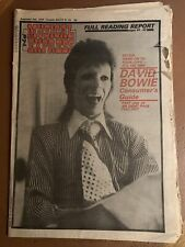 New Musical Express NME Sept 2 1978 David Bowie Blondie Commodores Ultravox