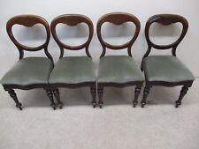 Set Of 4 Victorian Balloon Back Dining Chairs Victorian  Mahogany