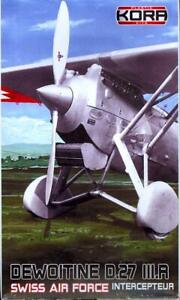KORA Models 1/72 DEWOITINE D.27 III.R Swiss Air Force Interceptor
