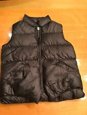 Crescent Down Works Kids Sz 14 Down Vest Black Nylon Puffer Made in Seattle USA