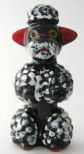 Vintage Black Redware Pottery Poodle Figurine Sonsco Japan