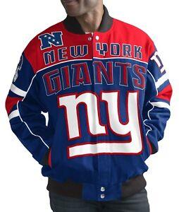 "New York Giants Men's NFL G-III ""Blitz"" Premium Cotton Twill Jacket"