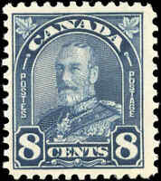 1930 Mint H Canada F+ Scott #171 8c King George V Arch/Leaf Stamp