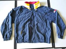 Tommy Hilfiger Vintage Mens Flag Nautical Windbreaker Jacket XL vented