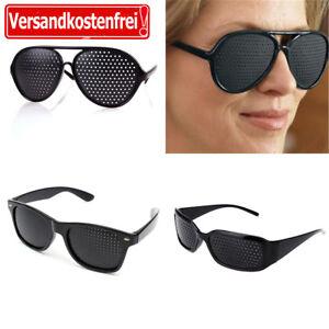 Sehkorrektur Augentraining Rasterbrille Gitterbrille Pinhole Lochbrille Brille