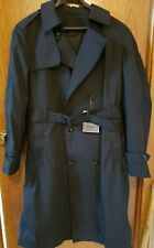 DSCP Garrison Collection Army All-Weather Black Trench Coat Removable Liner 40R