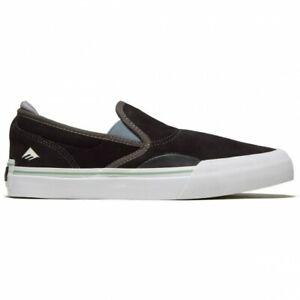 Emerica Shoes Wino G6 Slip On Dark Grey Black Skateboard Sneakers