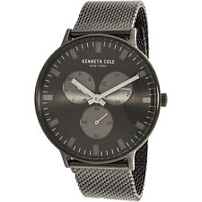 Kenneth Cole Men's KC14946015 Grey Stainless-Steel Plated Fashion Watch