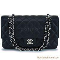 Chanel Black Caviar Classic Medium Double Flap Bag SHW 63089