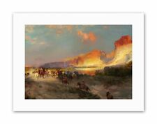 LANDSCAPE MORAN GREEN RIVER CLIFFS WYOMING Painting Canvas art Prints