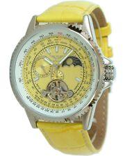 Minoir Uhren Modell Aerostar gelb Automatikuhr Fliegerstyle Drehlünette