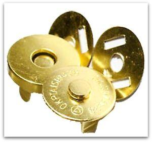 10 Set  Magnetic Bag Clasps Fasteners  GOLD 18mm  UK SELLER