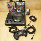 Sega Mega Drive UK PAL Retro Vintage Gaming Console 3 Games Controller Leads