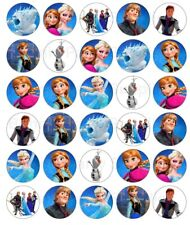 Disney Frozen Edible Wafer Paper Cupcake Cup Cake Decoration Topper Image (30)