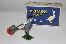 Britains Farm Series No. 5032; 1 Man, 1 Roller in Original Box, Lot #6