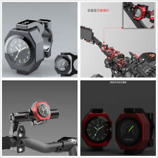 Motorcycle ATV Modified Luminous Clock Time+Temperature Alloy Gauge Cool Styling