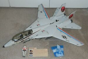 1983 GI Joe Skystriker XP14F Combat Jet Ace Blueprints Parachute *Complete READ*