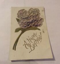 Vintage Paper Ephemera, Postcard 1908, Happy Birthday