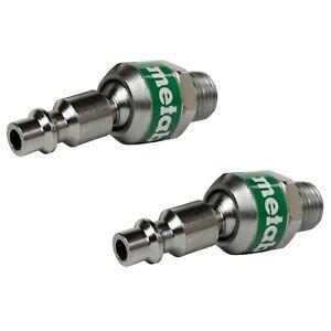Metabo HPT/Hitachi 115335 115-335 Swivel Plug 1/4 x 1/4 in MNPT IND (2-Pack)