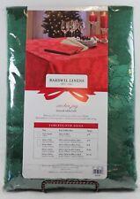 "Bardwil Winter Joy Green Damask Tablecloth 60""x120"" Rectangle"