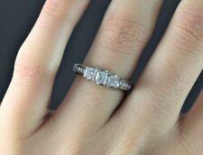 ISP 14K White Gold 1.00ct Princess Cut Diamond Engagement Ring Band Sz 6.5