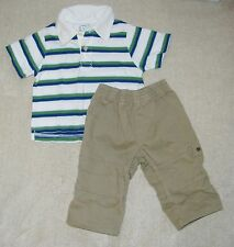 CHILDREN'S PLACE ~ FADED GLORY Lot of 2 Boys Polo Shirt & Pants  6-9 Months