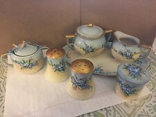 Lot of 7 Antique Handpainted Porcelain Limoge Collection TM Reinhard, Petroscan