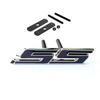 1x OEM Grille SS Emblem Front Badge 3D For Camaro Chevrolet GM serie Black i YU