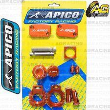 Apico Bling Pack Naranja bloques Tapas Tapones NUTS abrazadera cubre Para Ktm Exc 300 2010