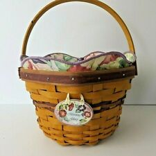 Longaberger 2000 May Series Morning Glory Basket Protector Liner & Tie-On #0866