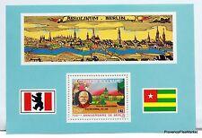"Togo bloc BERLIN "" BISMARK "" 1987  Yt 262 NEUF ** BD89"