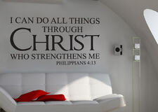 I Can Do All Things Through Christ Bible Wall Decal Sticker Philippians 4:13