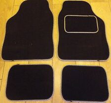 Black and Check trim car mats for BMW E30 E36 E46 E39 E87 318i Z1 Z3 M3 etc